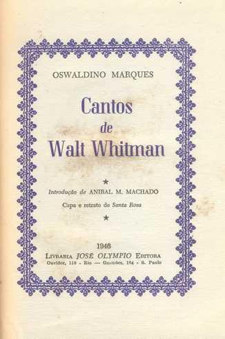 """Resultado de imagem para """"cantos de walt whitman"""""""