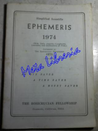 Simplified Scientific - Ephemeris 1974