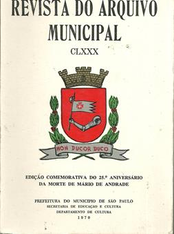 Revista do Arquivo Municipal