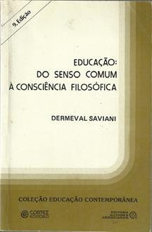 Educação - do Senso Comum À Consciência Filosófica