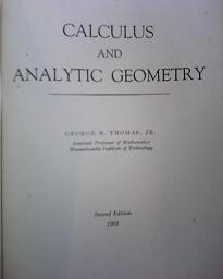 Calculus and Analytic Geometry