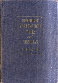 Handbook of Mathematical Tables and Formulas