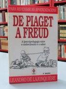 eb084f7ef4a Livro  De Piaget a Freud - Leandro de Lajonquiere