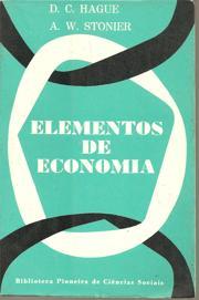Elementos de Economia de A. W. Stonier; D. C. Hague pela Pioneira / Edusp (1966)