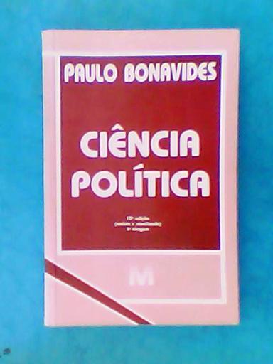 paulo bonavides ciencia politica livro
