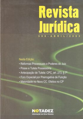 Revista Jurídica 306 - Abril 2003