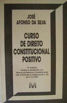 Curso de Direito Constitucional Positivo de José Afonso da Silva pela Malheiros (2000)