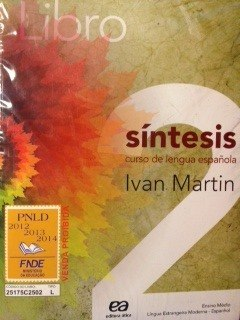 Libro Síntesis Com Cd Vol 2 - (livro Novo)