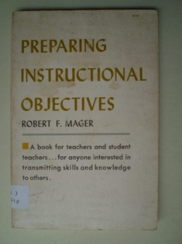 Preparing Instructional Objectives