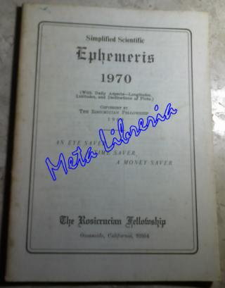 Simplified Scientific - Ephemeris 1970