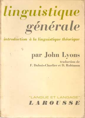 Linguistique Generale