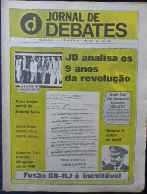 Jornal de Debates Nº 7 - Evaldo Diniz Documentos Exclusivos Sobre Itt