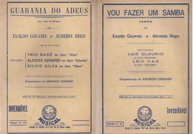 Livro: Guarania do Adeus e Vou Fazer um Samba Partitura Orquestra - Evaldo  Gouveia e Almeida Rego | Estante Virtual
