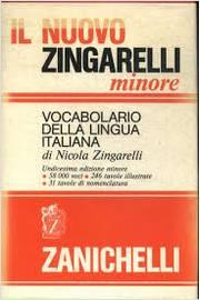 Vocabolario Della Lingua Italiana Di Nicola Zingarelli