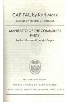 Great Books Capital  Manifesto of the Communist Party