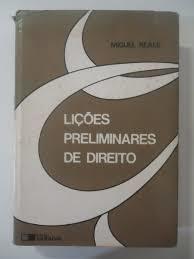 Lições Preliminares de Direito 24ª.