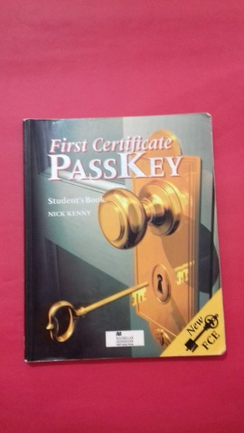 First Certificate Passkey