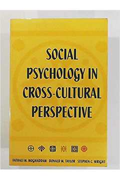 Social Psychology in Cross Cultural Perspective