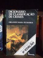 Dicionário de Classificação de Crimes