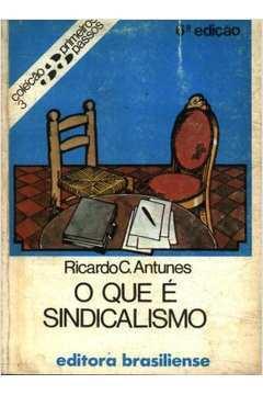 O Que é Sindicalismo Coleção Primeiros Passos