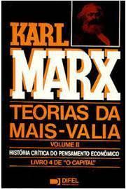 """Teorias da Mais - Valia / Volume II /  Livro 4 de """"o Capital"""""""