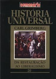 História Universal da Restauração ao Liberalismo