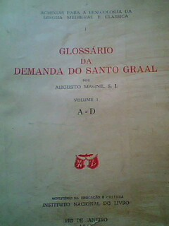 Glossario da Demanda do Santo Graal Volume 1 - A/d