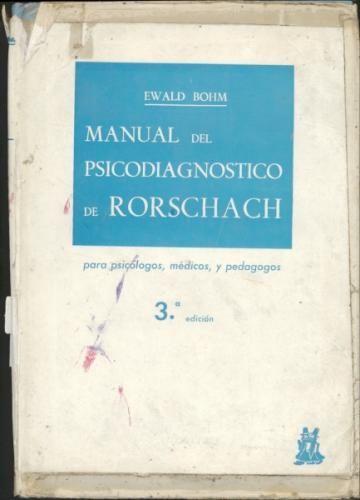 Manual del Psicodiagnostico de Rorschach