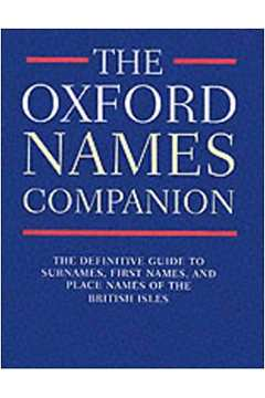 The Oxford Names Companion