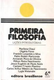 Primeira Filosofia - Lições Introdutórias de Vários Autores pela Brasiliense (1986)