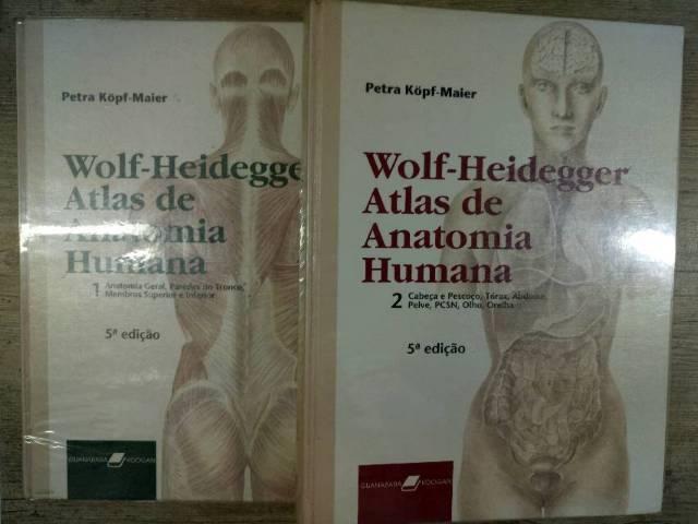 fc90a5f7b Wolf Heidegger - Atlas de Anatomia 2 Volumes