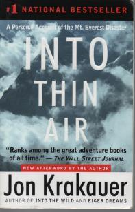 Into Thin Air ( With New Afterword By the Author )