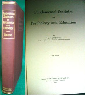 Fundamental Statistics in Psychology and Education