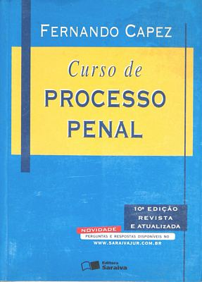 livro de direito processual penal fernando capez