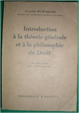 Introduction a La Theorie Generale et a La Philosophie Du Droit