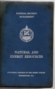 Natural and Energy Resources (capa Dura)
