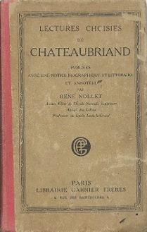 Lectures Choisies de Chateaubriand
