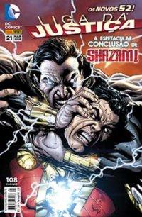 Os Novos 52 ! #21 Liga da Justiça a Espetacular Conclusão de Shazam ! de Dc Comics pela Panini Comics (2014)