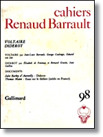Cahiers Renaud Barrault 98 - Voltaire Diderot