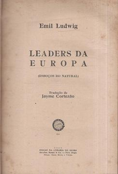 Leaders da Europa (esboços do Natural)