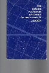 The Concise Planetary Ephemeris For 1950 to 2000 Ad At Noon