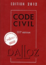 Code Civil (édition 2012)
