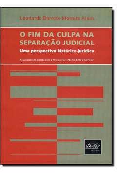 FIM DA CULPA NA SEPARACAO JUDICIAL, O